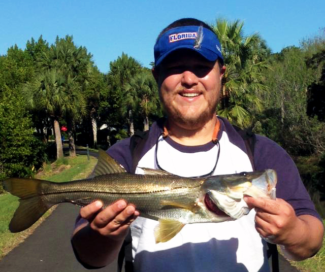 Author Trey Dyer with a nice Central Florida Snook