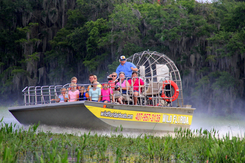 Airboating is a great way to see Gators in Orlando