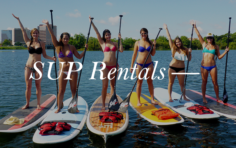 Unwind on the open water with a paddle board rental. You and your friends will love exploring the lakes and rivers of Orlando with our first-rate paddle boards.