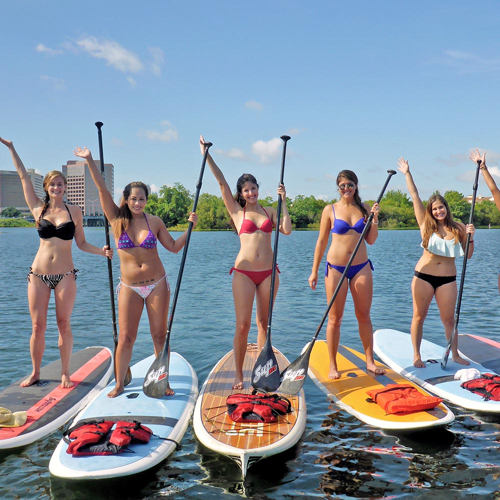 Paddleboarding on Lake Ivanhoe with Get Local
