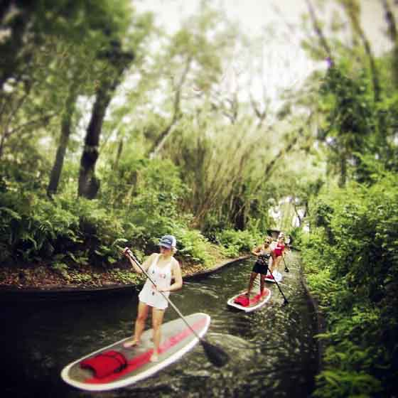 Paddleboarding the Venetian Canal of Winter Park Chain of Lakes