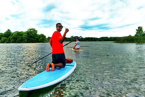 Paddleboard rental on Lake Ivanhoe in Orlando Florida