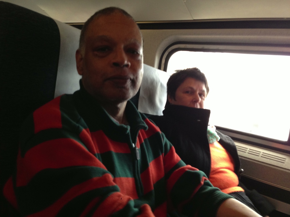 Ishmael and Yvonne on Amtrak
