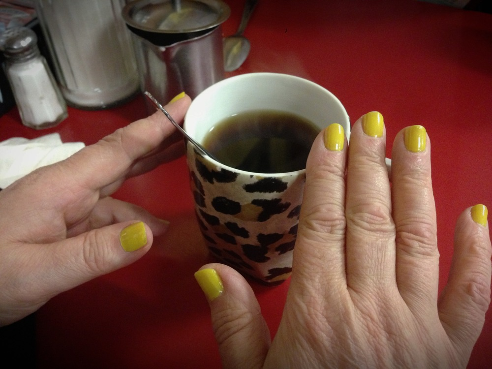 Yvonne's nails and leopard coffee