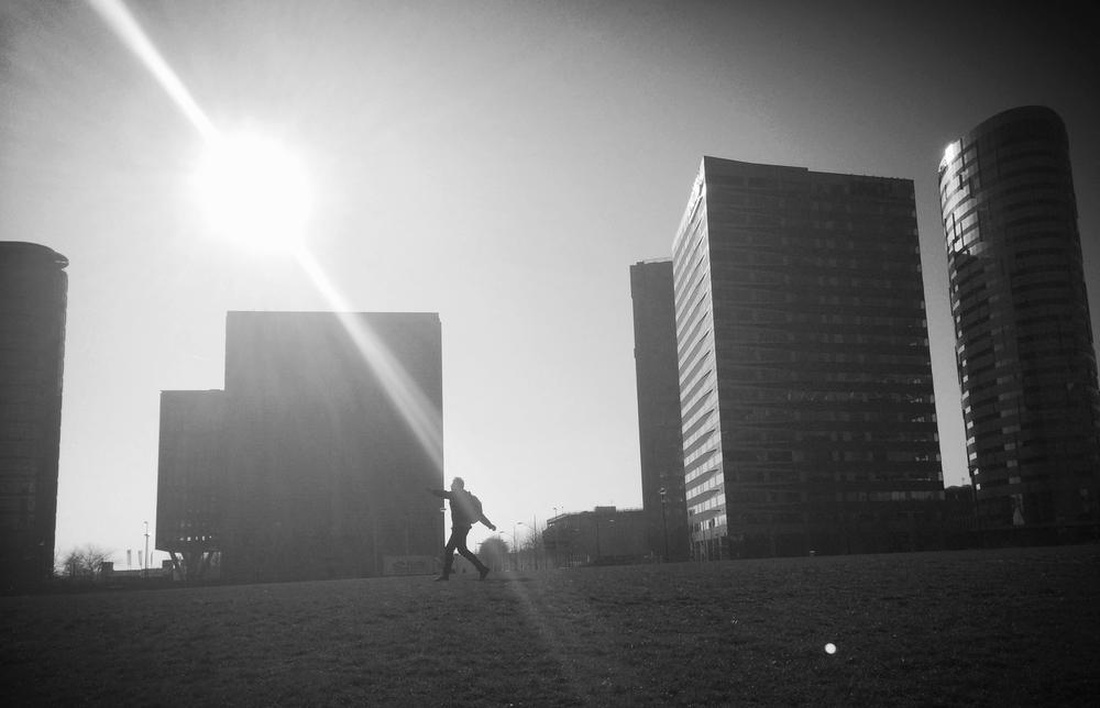 Adam in the Amsterdam sun