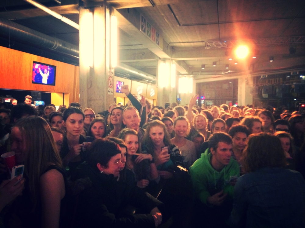 Fans in Antwerp Belgium.