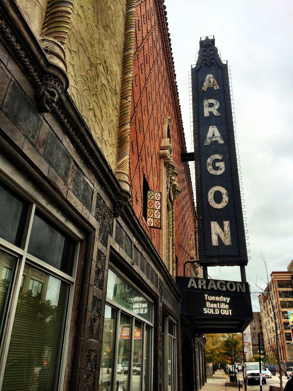 Aragon Ballroom, Chicago. Unassuming from out here.