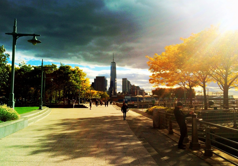 Went on a lovely walk with a friend down by Hudson River Park. The sky was cooperating that day.