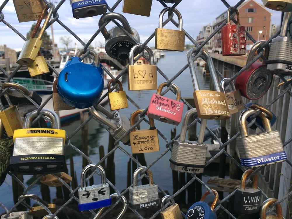 Portland, ME love locks.