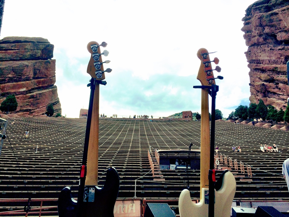 Somehow it happened that we played Red Rocks in Colorado this year. Let's be real, it's one of the best venues in the world. It was us and the movie Labyrinth. This was the first night we debuted Suffragate City.