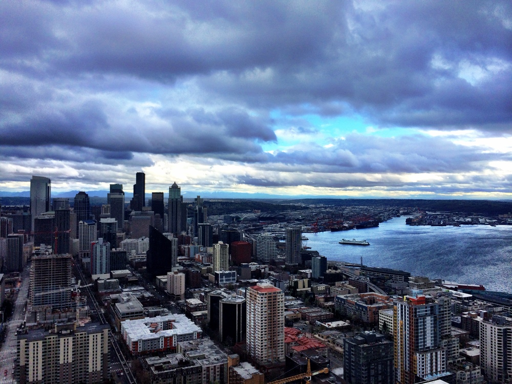 Seattle, from the dang old Space Needle.