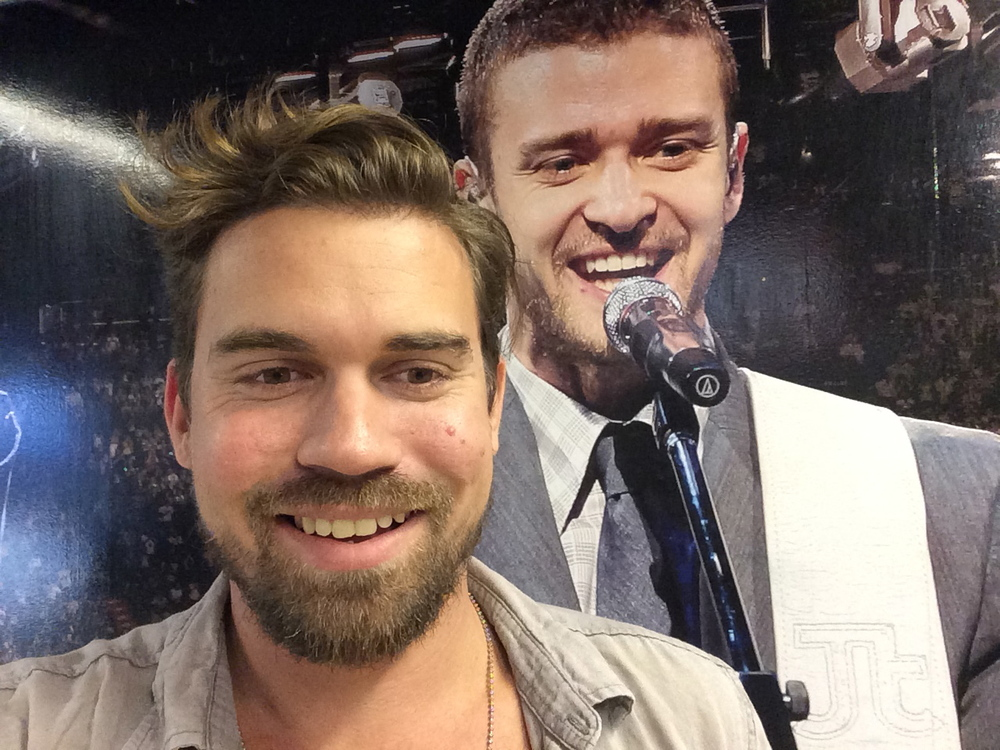 Got to sing with JT in Canada.