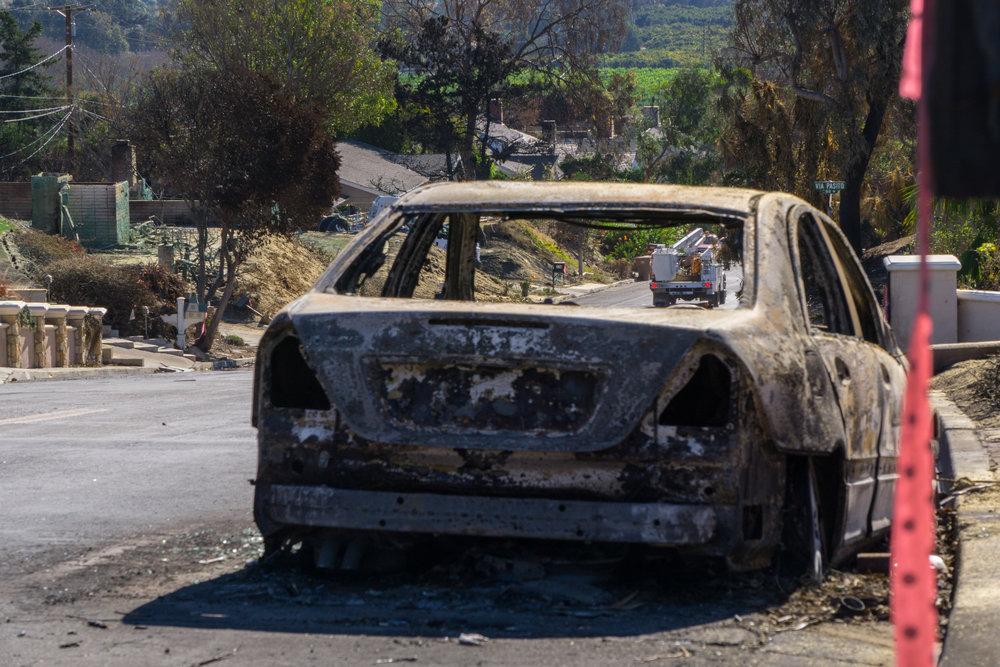 This is one of the worst hit neighborhoods, in east Ventura.