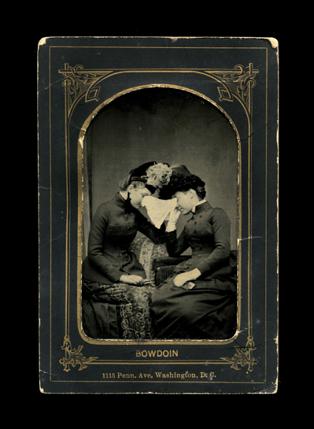 """Poor Frank!"" (1886), tintype, 4″ x 2.75″ (courtesy Thanatos Archive)"
