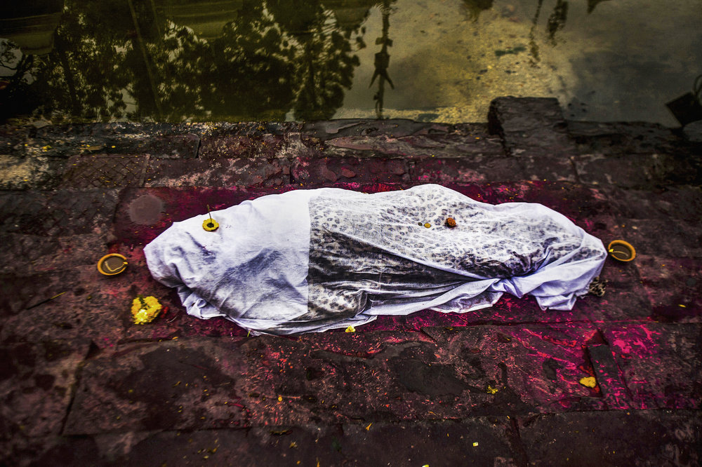 A body on the eastern bank of the Bagmati before purification.