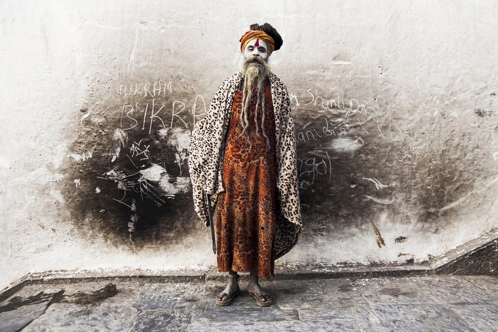 A sadhu, known as Fruit Baba.