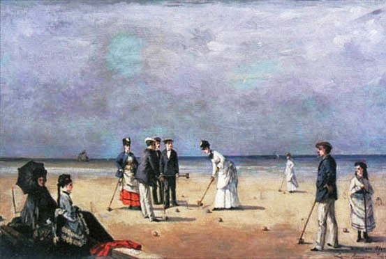 "Louise Abbéma, ""A Game of Croquet,"" 1872, Oil on canvas"