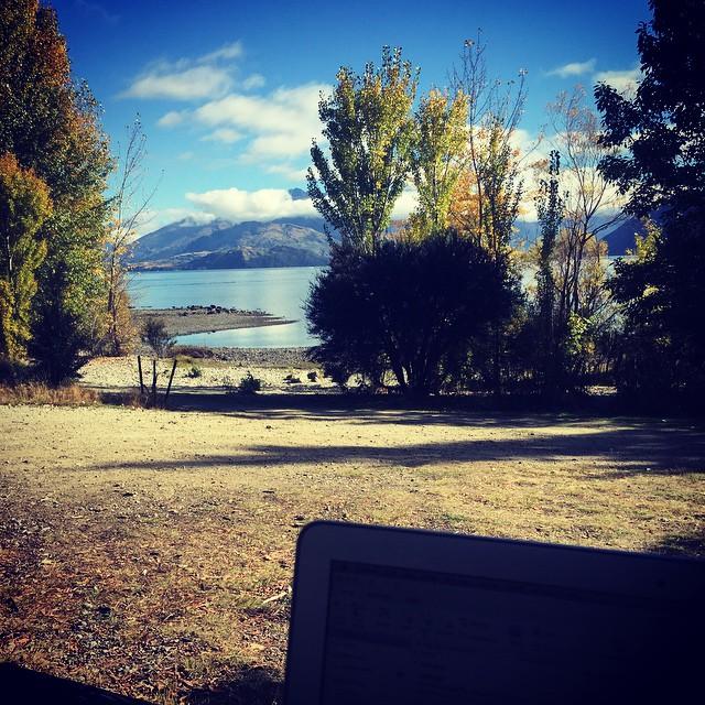 Another tough day in the Wanaka office #lakewanaka #monsroyale #worklifebalance