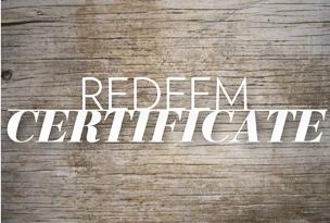 Redeem Certificate