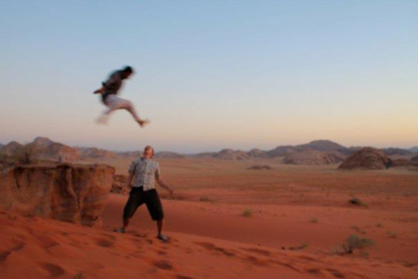 Fun in Wadi Rum