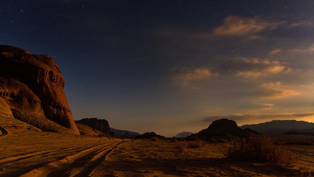 Dusk in Wadi Rum