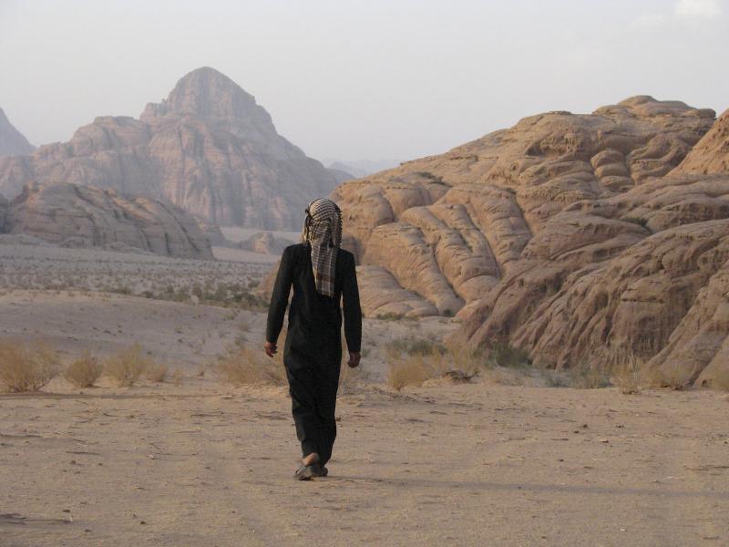 Walking in the White Desert