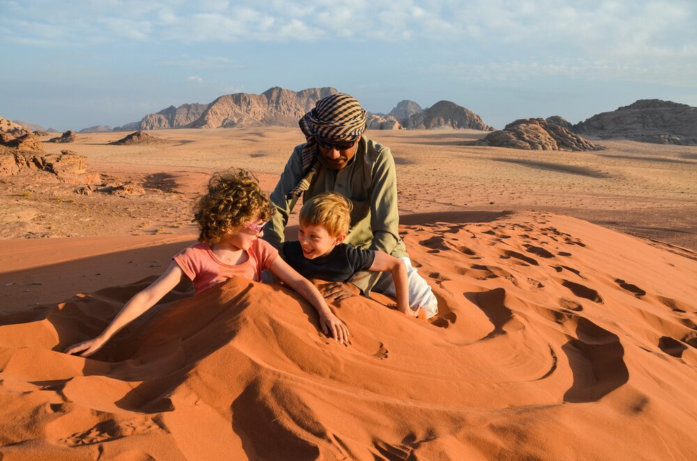 Red Sand Dune Fun,  Wadi Rum