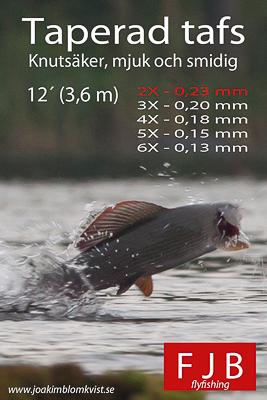 Taperade tafsar. 2X-6X 12 fot (3,6 meter)