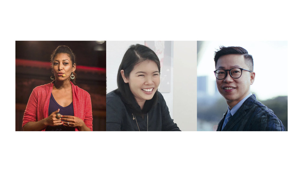 (From left to right) Solonia Teodros, Melisa Chan, Daniel Lim