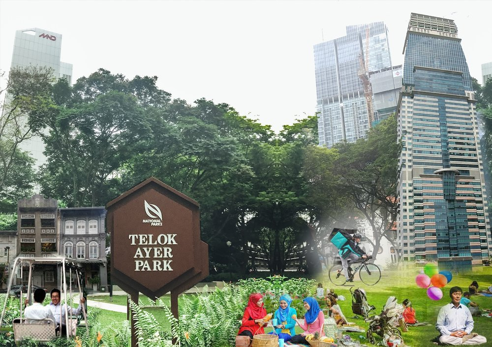 Artist's impression of what an activated Telok Ayer Park could be