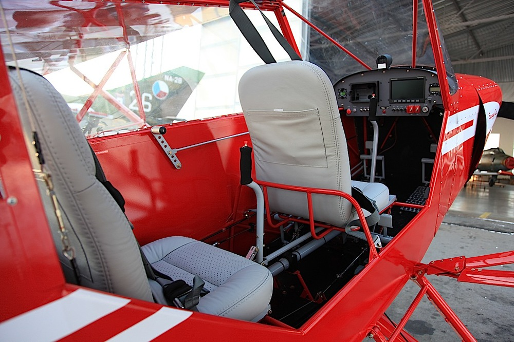 Savage Cub cockpit, with spacious tandem seating & dual controls