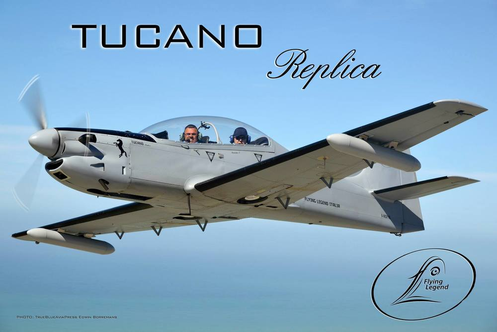 Tucano-R in flight