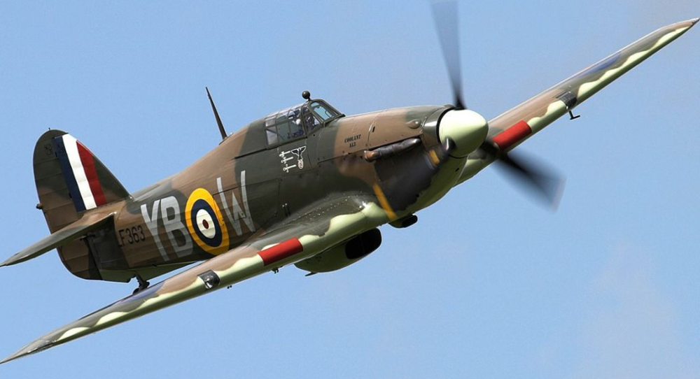Original World War II Battle of Britain Hawker Hurricane