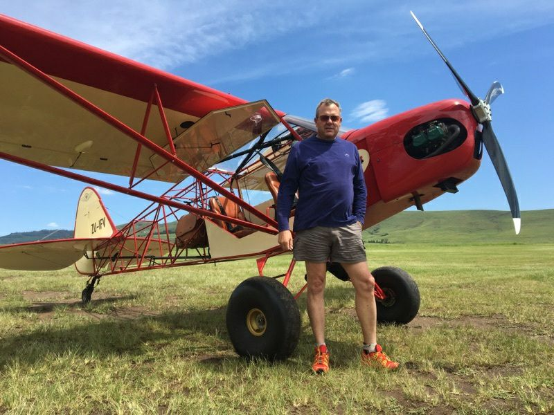 Dirk Booysen who recently completed his Taildragger training with us.