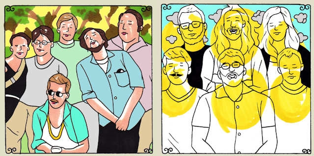 DEERPEOPLE & L'anarchiste - as depicted by Daytrotter