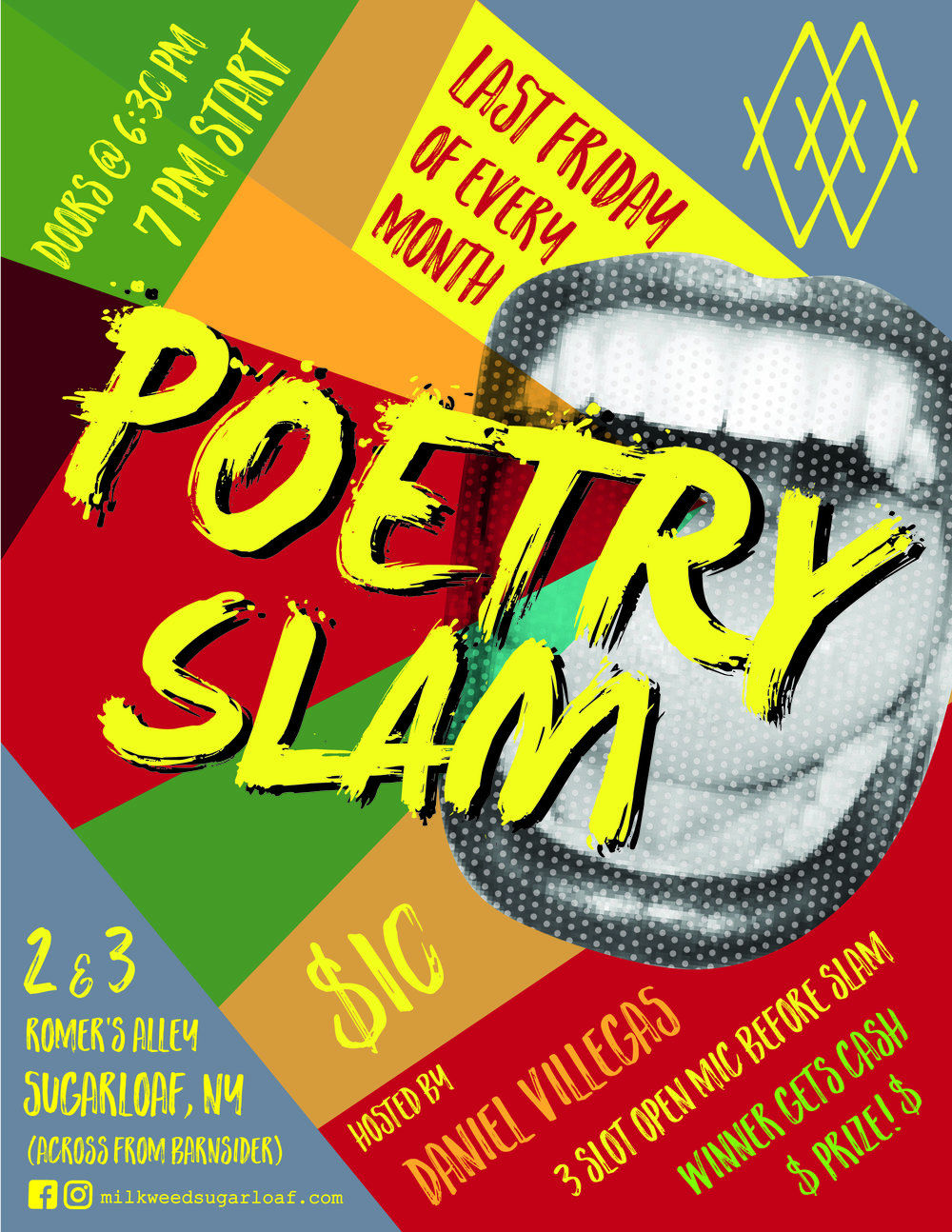 Milkweed Poetry Slam Poster