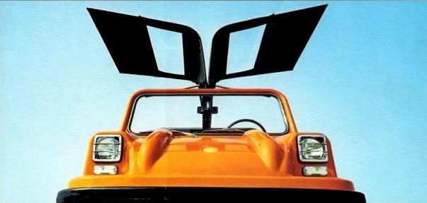 Gullwing doors are the perfect statement on a three-wheeler…