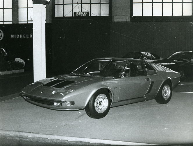 At the stand in the 1971 Geneva Motor Show