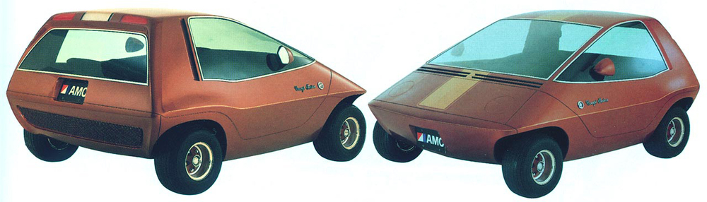 The AMC Electron, an updated Amitron that was shown 10 years later in 1977.