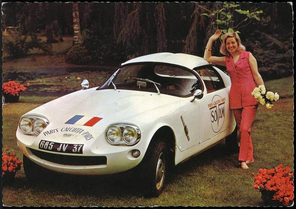 In 1966, SOVAM sent a female crew to the Paris-Calcutta-Paris rally, with Maité Patoux leading the charge.