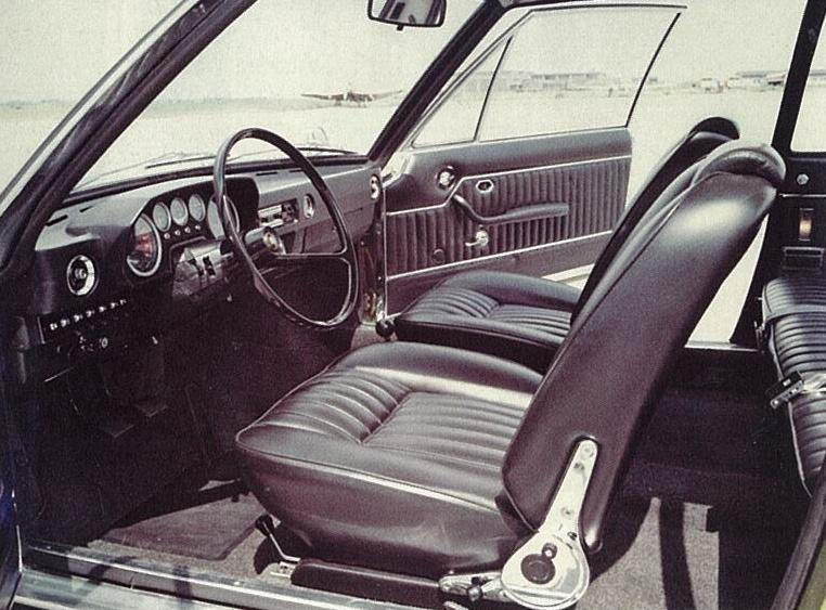 A nice interior that sadly was toned down for production.