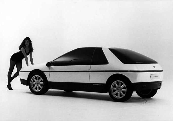 Lancia HIT styling model with model