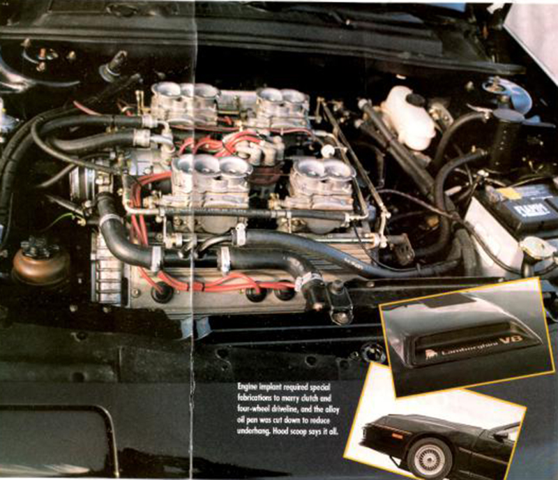 A very packed engine bay.