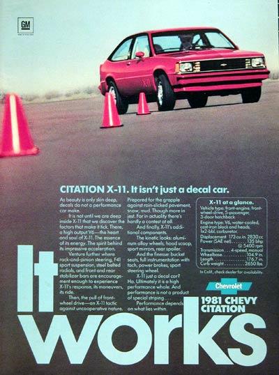 Chevrolet Citation X-11