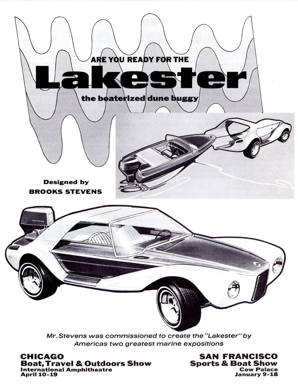 Brooks Stevens Evinrude Lakester show car ad