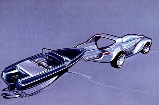 Brooks Stevens Evinrude Lakester show car sketch