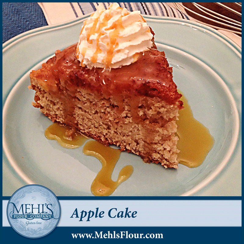 Shown above with caramel sauce and whipped cream.