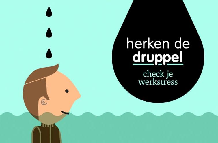 """Campagnesupporter van """"Herken de Druppel: check je werkstress"""" van Ministerie van SZW en Focal Point Nederland"""