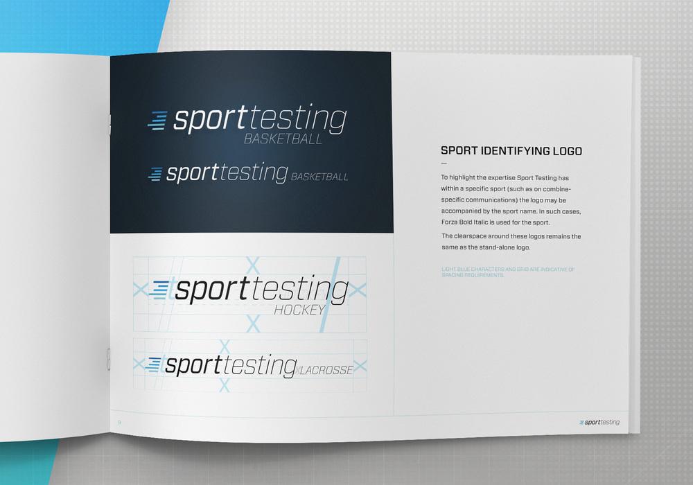 Specific logos designed for each sport.
