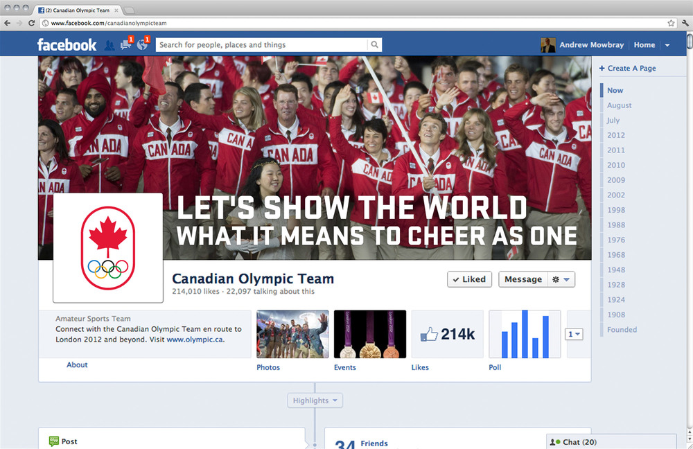 Facebook cover images used to broadcast big moments within 1 hour ofoccurrence.